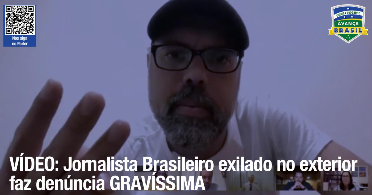 Jornalista Brasileiro auto-exilado no exterior faz denúncia GRAVÍSSIMA que precisa ser esclarecida / Brazilian journalist self-exiled abroad makes a VERY serious complaint that needs to be clarified